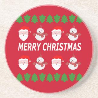 Porta-copos De Arenito Feliz Natal