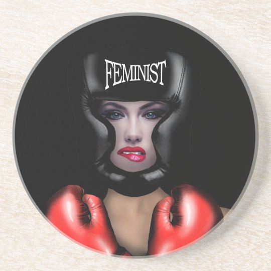 Porta-copos De Arenito Feminista