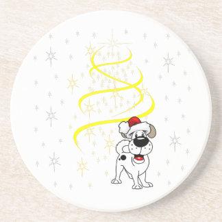 Porta-copos De Arenito Filhotes de cachorro do Natal