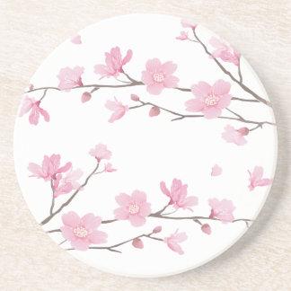 Porta-copos De Arenito Flor de cerejeira - Transparente-Fundo