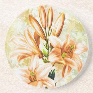 Porta-copos De Arenito Floral, arte, design, bonito, novo, forma, Crea