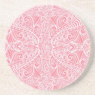 Porta-copos De Arenito Fluxo elegante cor-de-rosa