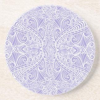 Porta-copos De Arenito Fluxo elegante do Lilac