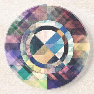 Porta-copos De Arenito Formas geométricas Textured