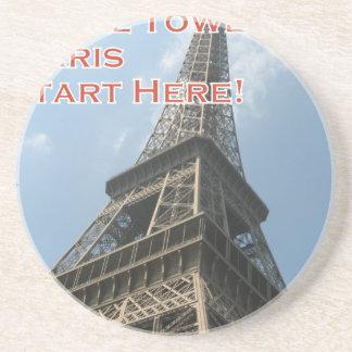 Porta-copos De Arenito Francês do verão 2016 de Paris France da torre