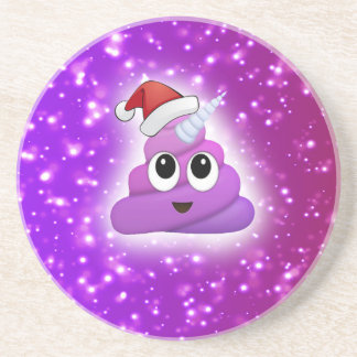 Porta-copos De Arenito Fulgor bonito de Emoji do tombadilho do unicórnio