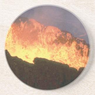 Porta-copos De Arenito fulgor do fogo vulcânico