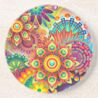 Porta-copos De Arenito Fundo abstrato colorido novo