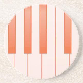 Porta-copos De Arenito Fundo chave do piano