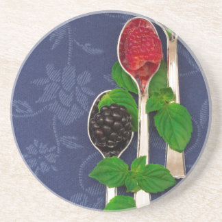 Porta-copos De Arenito fundo da fruta de baga