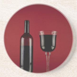 Porta-copos De Arenito Garrafa de vidro de vermelho de vinho
