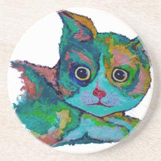 Porta-copos De Arenito Gato do gatinho