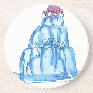 Porta-copos De Arenito gato do jello do mirtilo dos fernandes tony