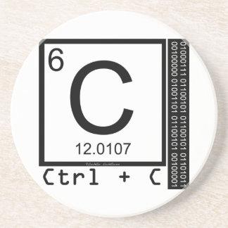 Porta-copos De Arenito Geek mim! Cópia de carbono