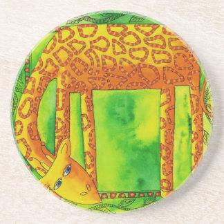 Porta-copos De Arenito Girafa modelado