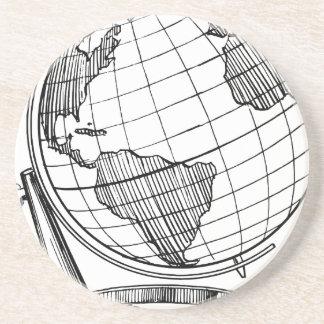 Porta-copos De Arenito Globo do mundo