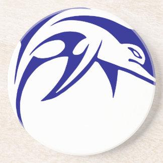 Porta-copos De Arenito Golfinho azul