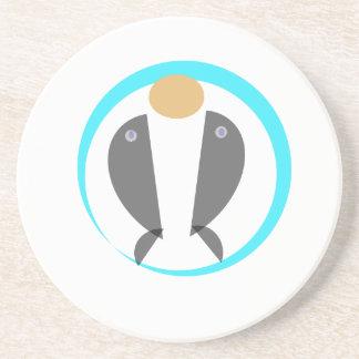 Porta-copos De Arenito Golfinhos