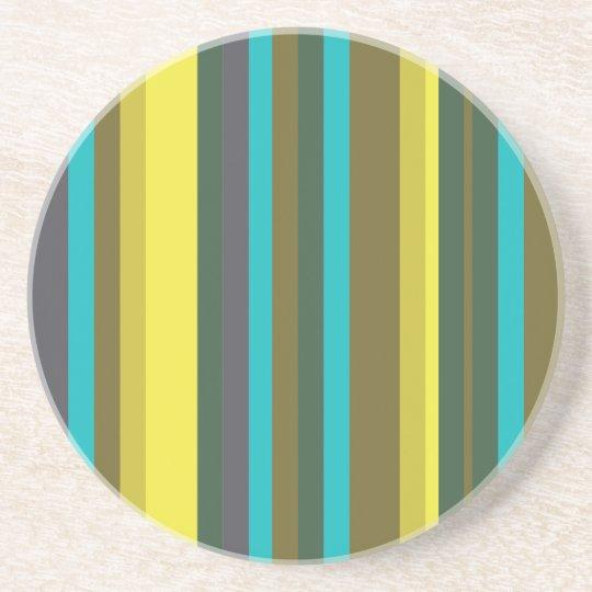 Porta-copos De Arenito Green_stripes