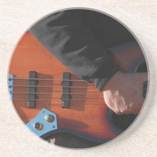 Porta-copos De Arenito Guitarra baixa