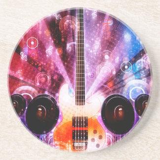 Porta-copos De Arenito Guitarra do Grunge com altifalante 3