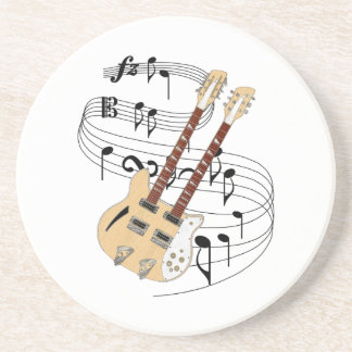 Porta-copos De Arenito Guitarra dobro do pescoço