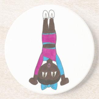 Porta-copos De Arenito Gymnast de caída do Handstand dos Acrobatics de