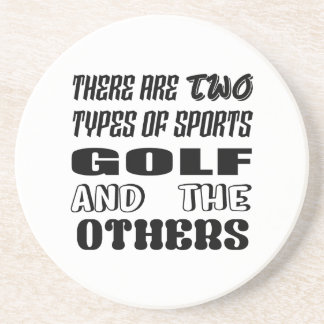 Porta-copos De Arenito Há dois tipos de esportes Golf e outro