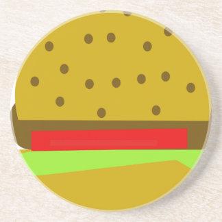 Porta-copos De Arenito Hamburguer do fast food da comida do Hamburger