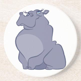 Porta-copos De Arenito Hipopótamo para o Natal