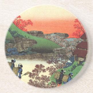 Porta-copos De Arenito Hokusai - arte japonesa - Japão
