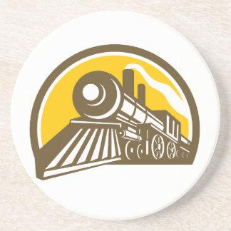 Porta-copos De Arenito Ícone do trem da locomotiva de vapor