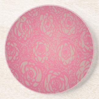 Porta-copos De Arenito Impressão do rosa do rosa