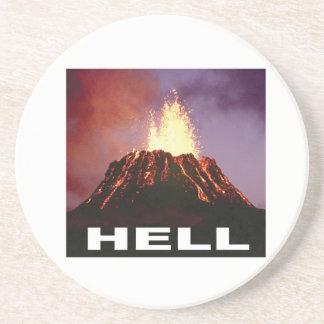 Porta-copos De Arenito inferno do vulcão