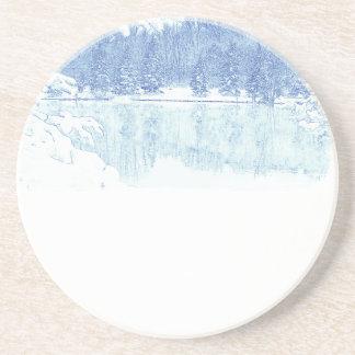 Porta-copos De Arenito inverno