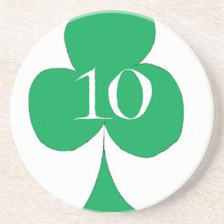 Porta-copos De Arenito Irlandês afortunado 10 dos clubes, fernandes tony