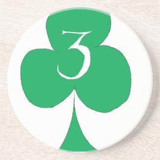 Porta-copos De Arenito Irlandês afortunado 3 dos clubes, fernandes tony