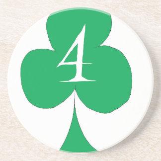 Porta-copos De Arenito Irlandês afortunado 4 dos clubes, fernandes tony