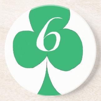 Porta-copos De Arenito Irlandês afortunado 6 dos clubes, fernandes tony