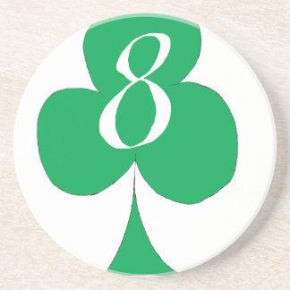 Porta-copos De Arenito Irlandês afortunado 8 dos clubes, fernandes tony