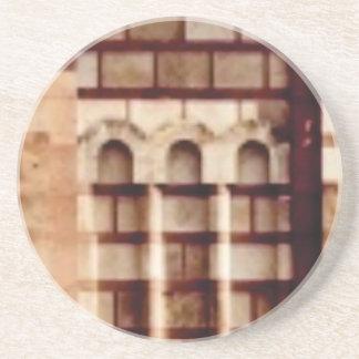 Porta-copos De Arenito janela marrom do bloco