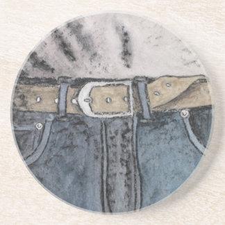 Porta-copos De Arenito Jeans