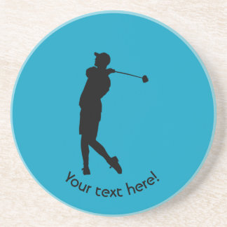 Porta-copos De Arenito Jogador de golfe