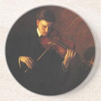 Porta-copos De Arenito Jogador do violino