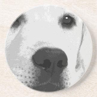 Porta-copos De Arenito Labrador retriever preto e branco
