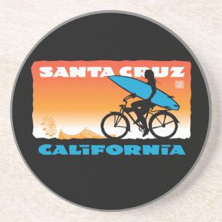 Porta-copos De Arenito Laranja da menina do surfista de Stephen Hosmer
