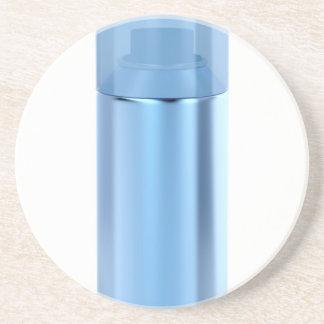 Porta-copos De Arenito Lata de pulverizador azul do aerossol