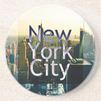 Porta-copos De Arenito Lembrança da Nova Iorque