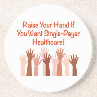 Porta-copos De Arenito Levante sua mão para cuidados médicos do