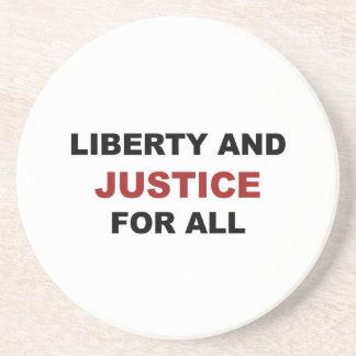 Porta-copos De Arenito Liberdade e JUSTIÇA para tudo